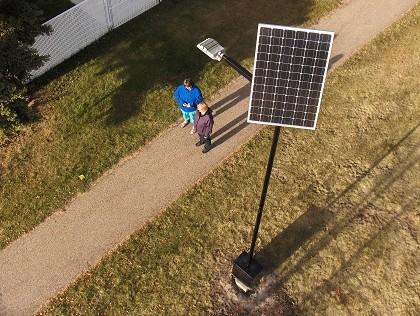 LED Solar Light Installation