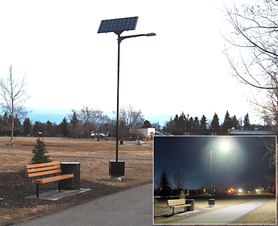 Solar LED Lighting Before & After