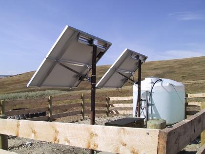 solar powered de-watering pumps